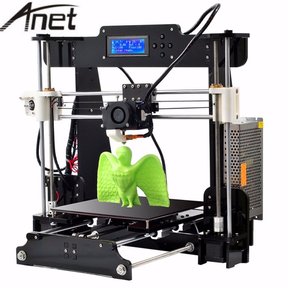 Anet A8 Upgrade Auto leveling Prusa i3 3D Printer kit DIY 3d printer with Aluminum Hotbed Free 10m Filament 8GB SD Card LCD