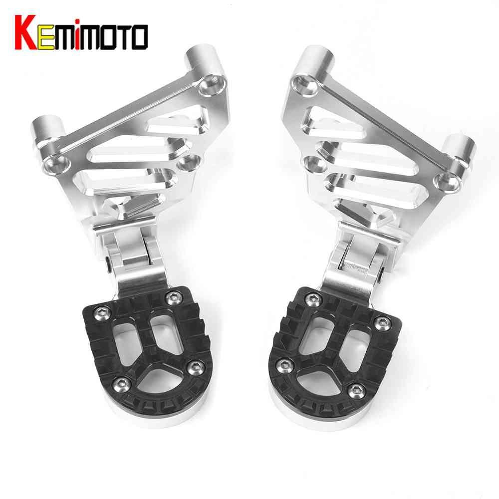 KEMiMOTO For HONDA X-ADV XADV X ADV 2017 Folding Rear Foot Pegs Footrest Passenger radiator grille guard Motorcycle accessories