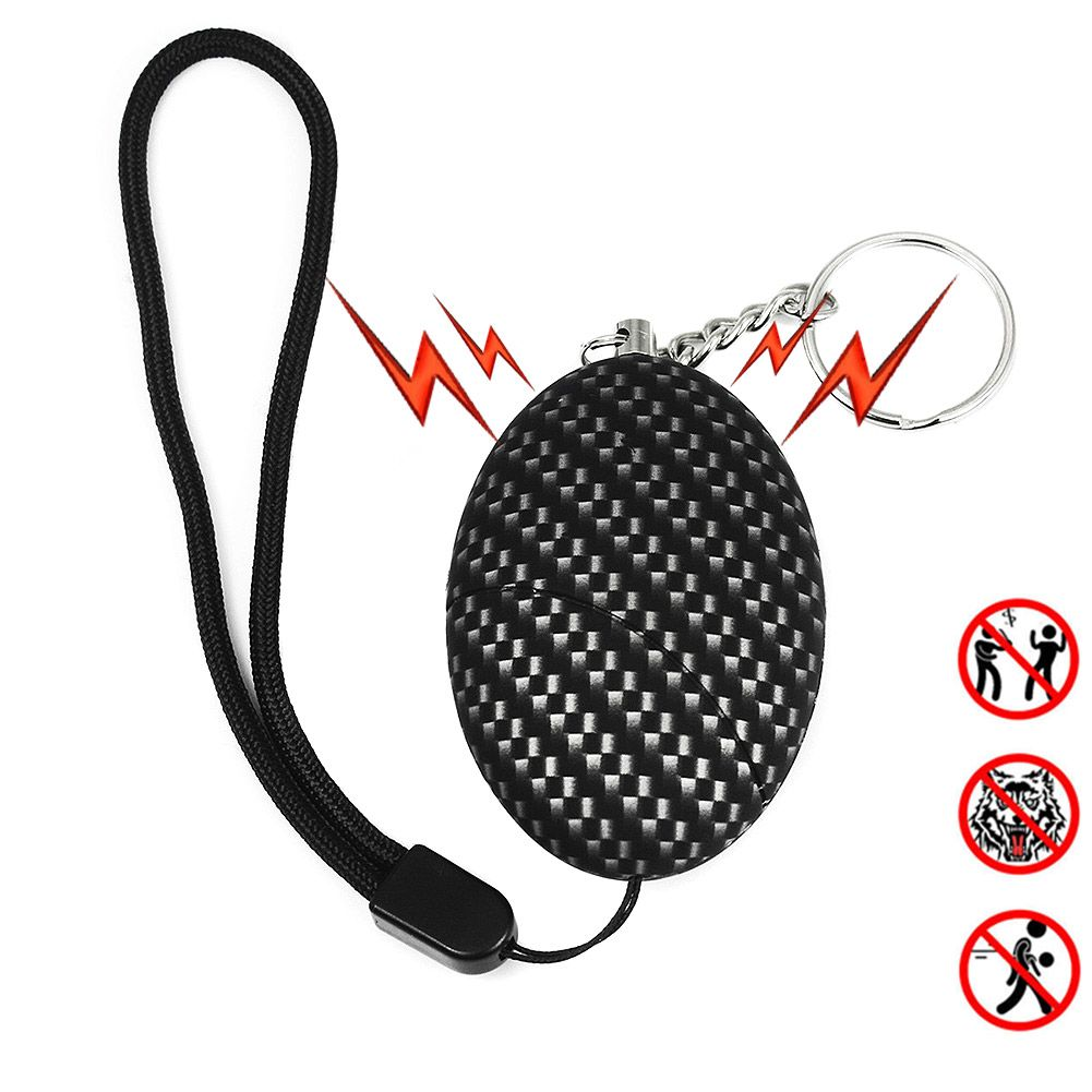 Portable Keychain Personal Security Alarm Anti-Attack Self Defense Emergency Alarms Keyring For Women Kids Girls LCC77