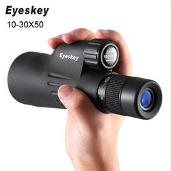 Asli Eyeskey Bermata Teleskop 10-30x50 Zoom Kuat Multi Dilapisi BAK4 Prisma Tahan Air Teropong Spotting Scope