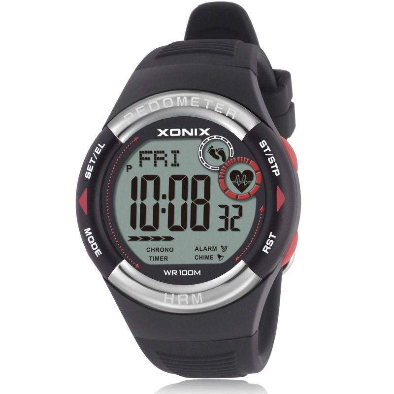 Hot!! Pedometer Heart Rate Monitor Calories BMI Men Sports Watches Waterproof <font><b>100m</b></font> Women Digital Watch Running Diving Wristwatch