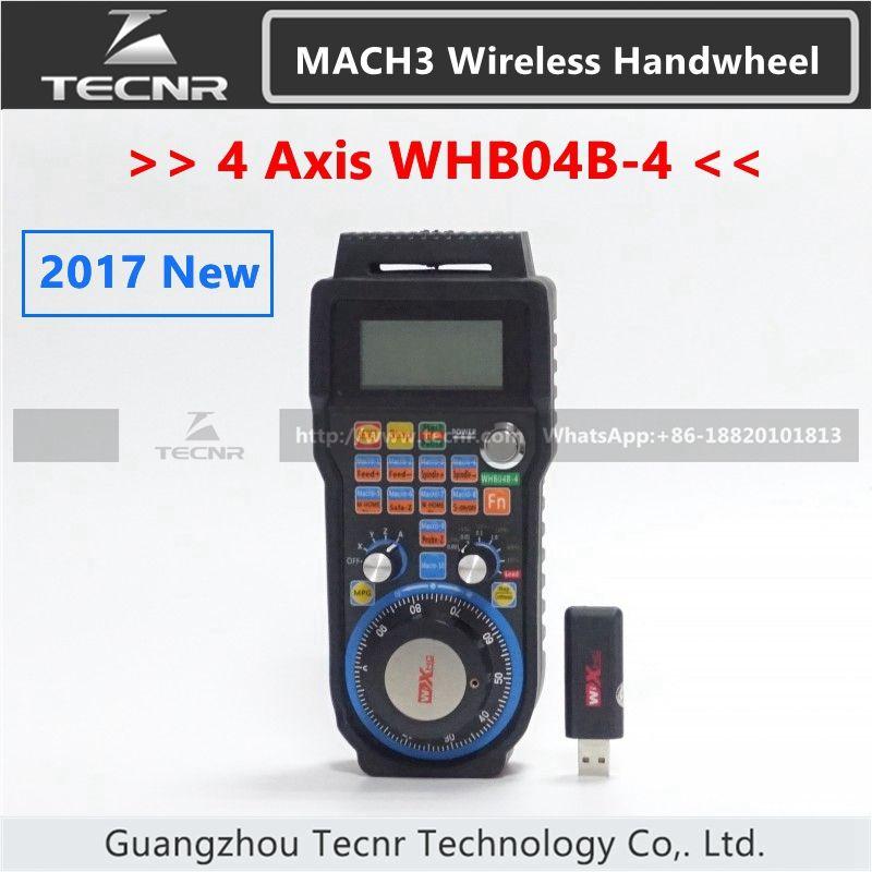 XHC 4 Achsen MACH3 Drahtlose Handrad CNC MPG Handrad Manuelle Usb-empfänger 40 meter übertragungsreichweite WHB04B