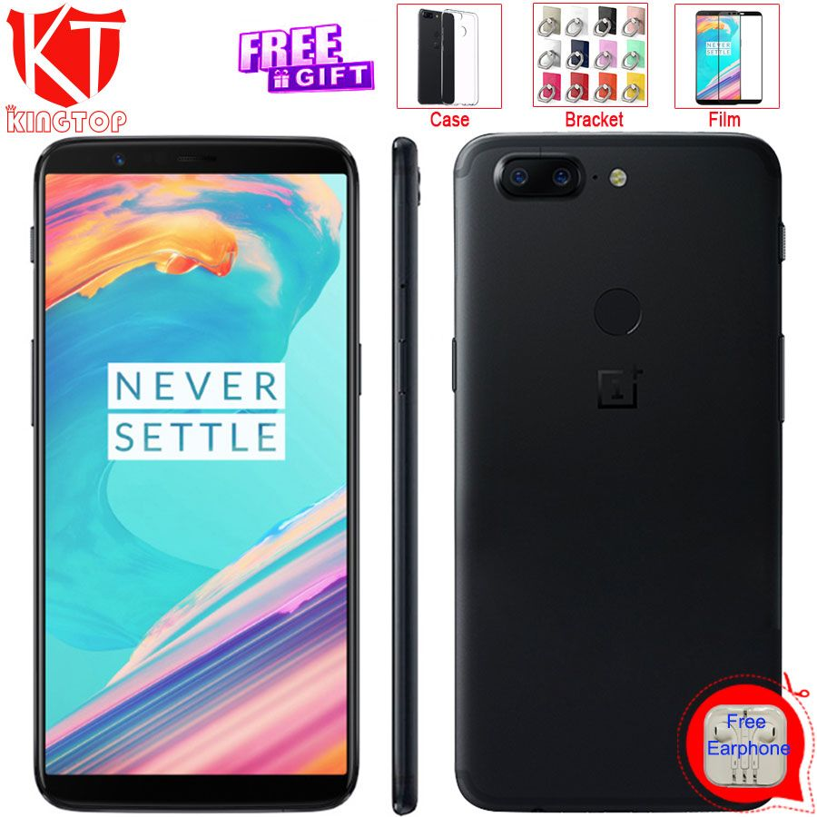 Original Oneplus 5T Mobile Phone 128GB 18:9 Full Screen Snapdragon 835 8GB RAM 6.01