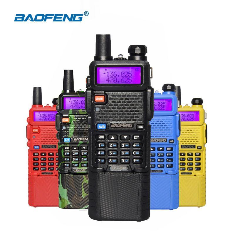 Baofeng UV-5R 5W Walkie Talkies UV 5R Portable Two Way Radio Ham CB Radio uv-5r 3800mAh Dual Band UHF 400-520MHz VHF 136-174MHz