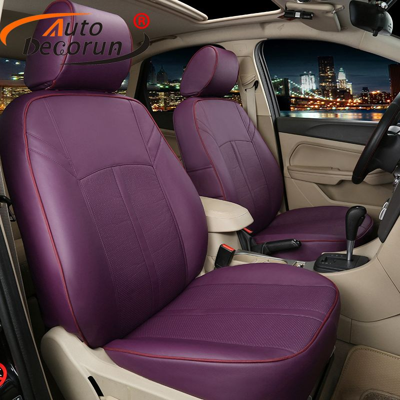AutoDecorun Custom fit leather cover seat for toyota estima previa seat covers set cars cushion supports accessories car styling