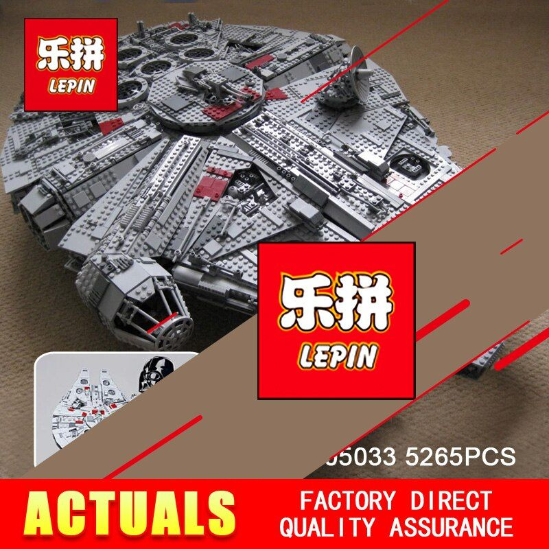 LEPIN 05033 5265Pcs STAR Ultimate Collector's Millennium Model Falcon Building Kit Blocks Bricks Toy Gift Compatible 10179 WARS