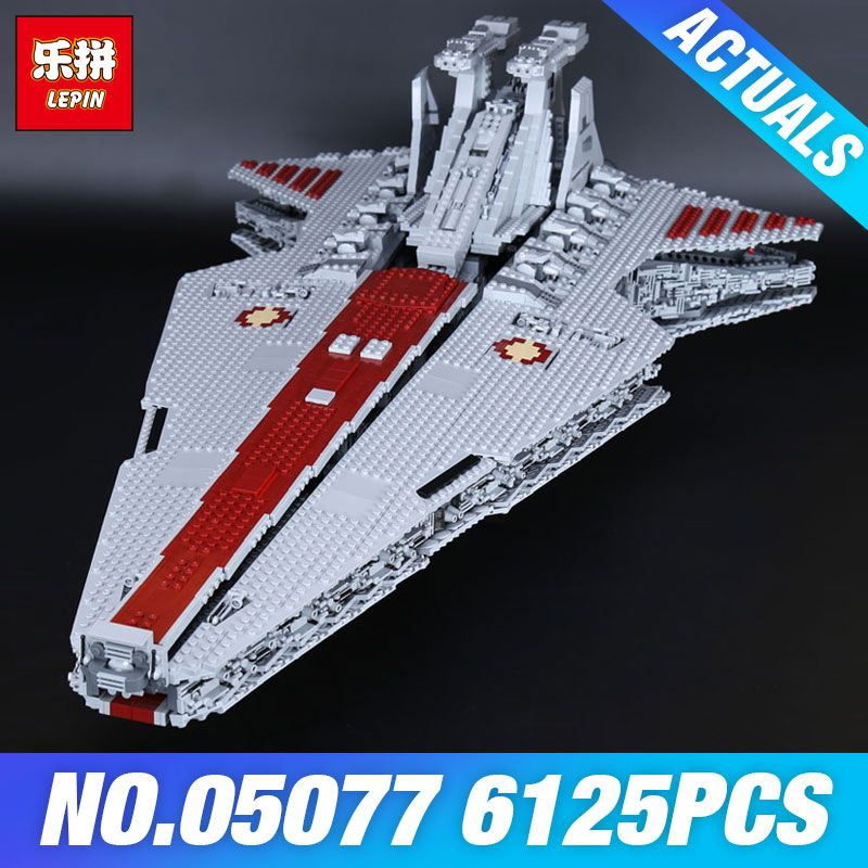 DHL Lepin 05077 The UCS Rupblic Star Destroyer Plan Cruiser ST04 Set Wars Building Blocks Bricks Educational DIY Children Toys