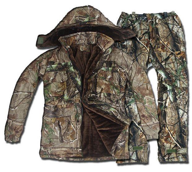 Tactical Winter Wasserdichte Bionic Jagd Ghillie Anzug, Camouflage Thick Kleidung 5 STÜCKE für Outdoor-sportarten