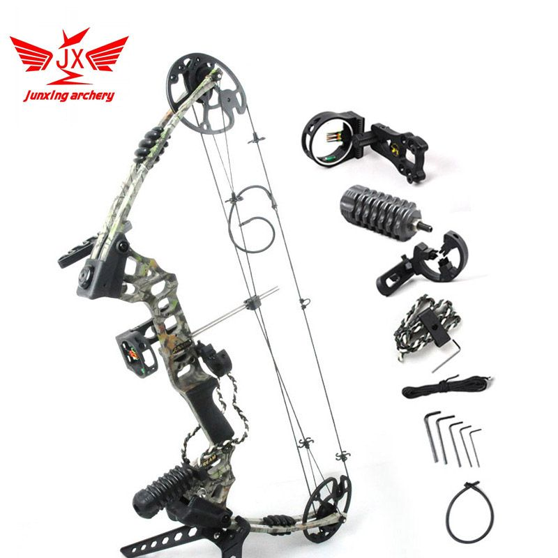 YZ JUNXING ARECHERY Dream Aluminum Alloy Compound Bow With 20-70 lbs Draw Weight Camo And Black Color for human outdoor hunting