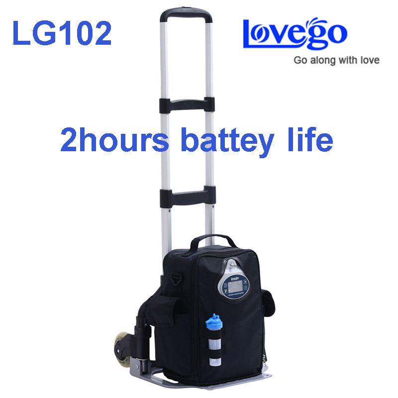 2 stunden akkulaufzeit Lovego tragbaren sauerstoff-konzentrator LG102 erfüllen alle patienten 1 bis 5 liter sauerstoff ergänzung