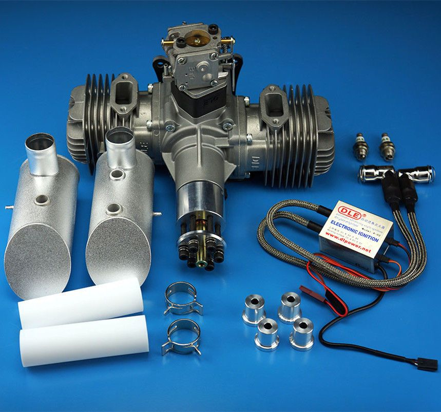New DLE Gasoline Engine DLE120 Rear Exhaust 120CC For RC Airplane