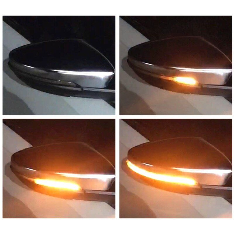 Dynamic LED Indicator Turn Light Signal Side Mirror fits for VW Volkswagen Passat CC B7 Beetle EOS Scirocco R Jetta A6 GLI RLine