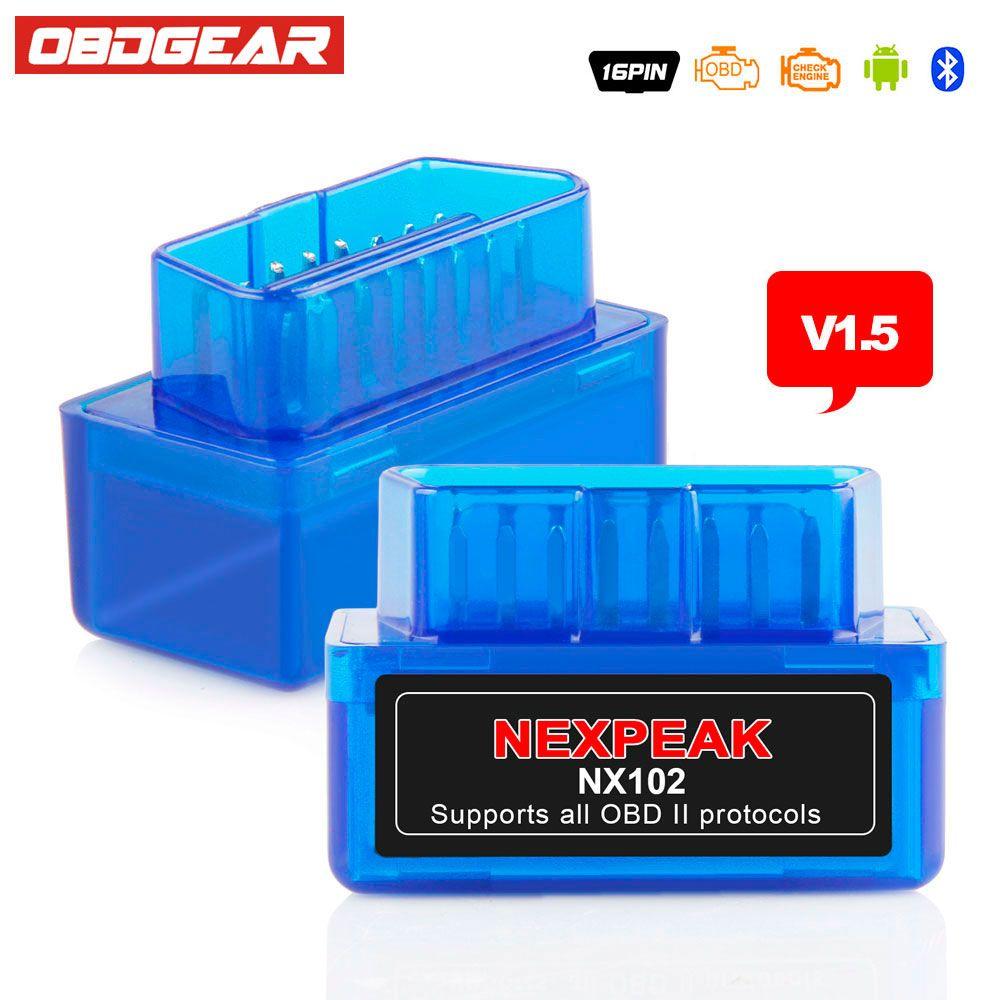 EML327 Adaptador ODB ODB 2 AutoScanner ELM 327 OBD2 Bluetooth V1.5 ELM327 Bluetooth V1.5 ODB2 Explorador Automotor de Habla Rusa