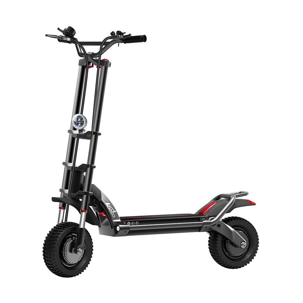 2018 Kaabo Wolf Krieger II Neue Design 11 inch 60 V 35AH Elektrische Roller mit Hydraulische dämpfung