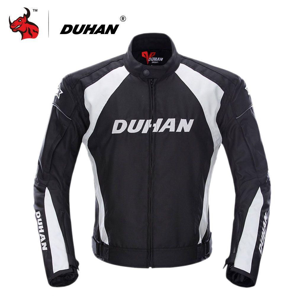 DUHAN Moto Veste Hommes Coupe-Vent Moto Motocross Veste Vêtements Équipement De Protection Avec Cinq Protecteur Gardes Moto Veste