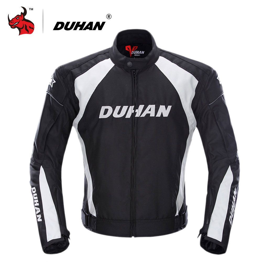 DUHAN Motorcycle Jacket Men Windproof Moto Motocross Jacket Clothing Protective Gear With Five Protector Guards Motorbike Jacket
