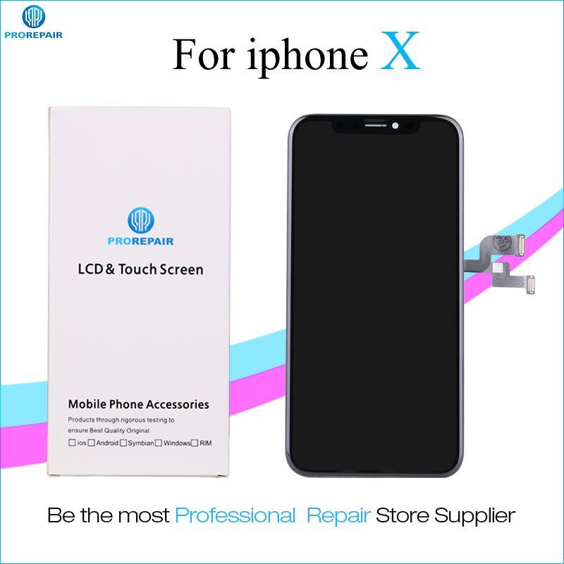 Prorepair 1 stücke Ori-Nehmen Ori-Neuen Bildschirm Für iPhone X LCD Display Touchscreen Digitizer Assembly Ersatz