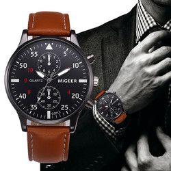 Retro Design Leather Band Watches Men Top Brand Relogio Masculino 2020NEW Mens Sports Clock Analog Quartz Wrist Watches #Zer