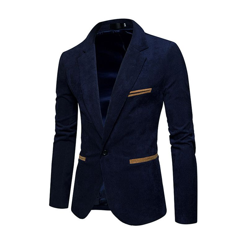 New fashion men's casual corduroy blazers men Single button leisure Slim suit jacket high quality jacket and cost khaki navy red