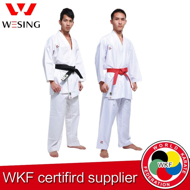 Wesing Karate gi Kumite Adult Children Karate Unifomr Kata gi for Training Competition Approved by WKF