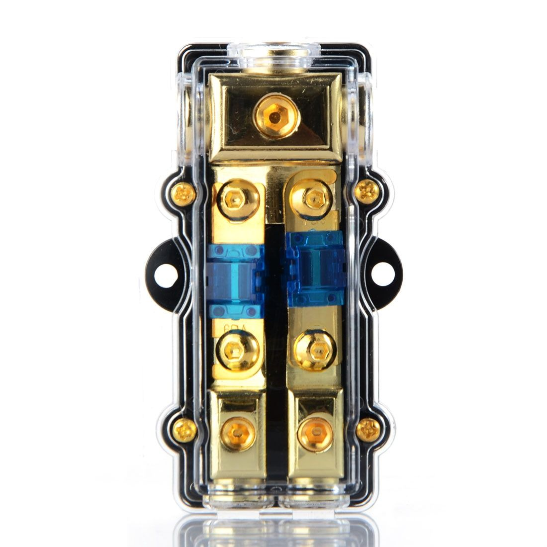 1PCS Universal Car Auto Vehicles Audio Amplifier 1 in 2 ways Out Fuse Holder Fuse Box