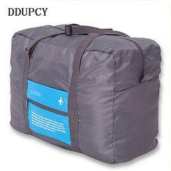 Moda impermeable viaje bolsa de gran capacidad mujeres nylon plegable bolso bolsos Unisex del recorrido del equipaje envío libre