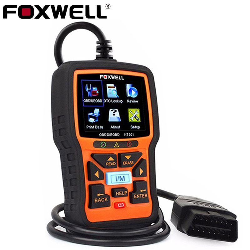 FOXWELL NT301 OBD2 Automotive Scanner Car Code Reader Engine <font><b>Analyzer</b></font> Live Date Universal obd2 EOBD OBDII Auto Diagnostic Tool