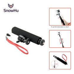 SnowHu for Gopro accessories Extendable Waterproof Monopod for Go pro Hero 5 4 3+ Xiaomi Yi SJCAM SJ4000 Action Camera TP54