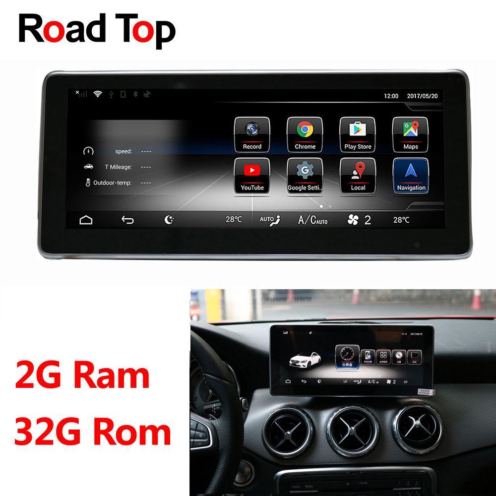 10,25 Android 8.1 Octa 8-Core CPU 2 + 32G Auto Radio WiFi GPS Navigation Bluetooth Kopf Einheit bildschirm für Mercedes Benz EINE Klasse W176