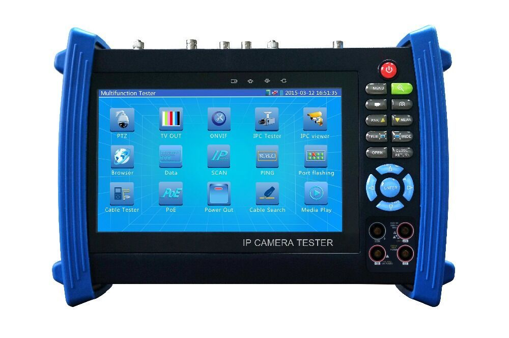 IPC8600MOVTADHS New 7 inch touch screen CCTV Tester for 4K ,H.265 ,support IP ,CVI,TVI ,AHD ,Analog cameras all in one tester