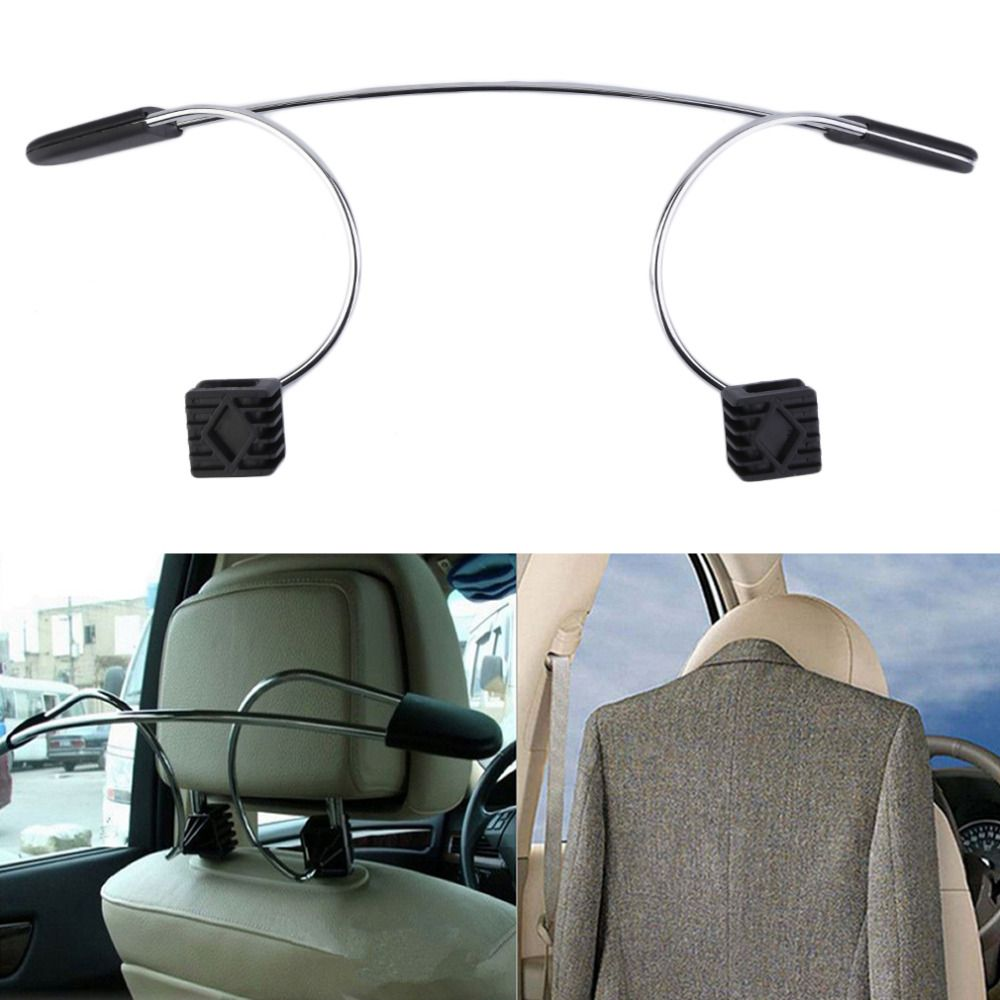 Free Shipping 1pc Stainless Steel Car Auto Seat Headrest Coat Hanger Clothes Jackets Suits Holder drop shipping