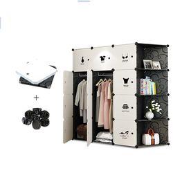 Meubles de rangement Lorsque les quarts armoire BRICOLAGE Non-tissé pliant Armoire De Stockage Portable chambre meubles armoire chambre organe