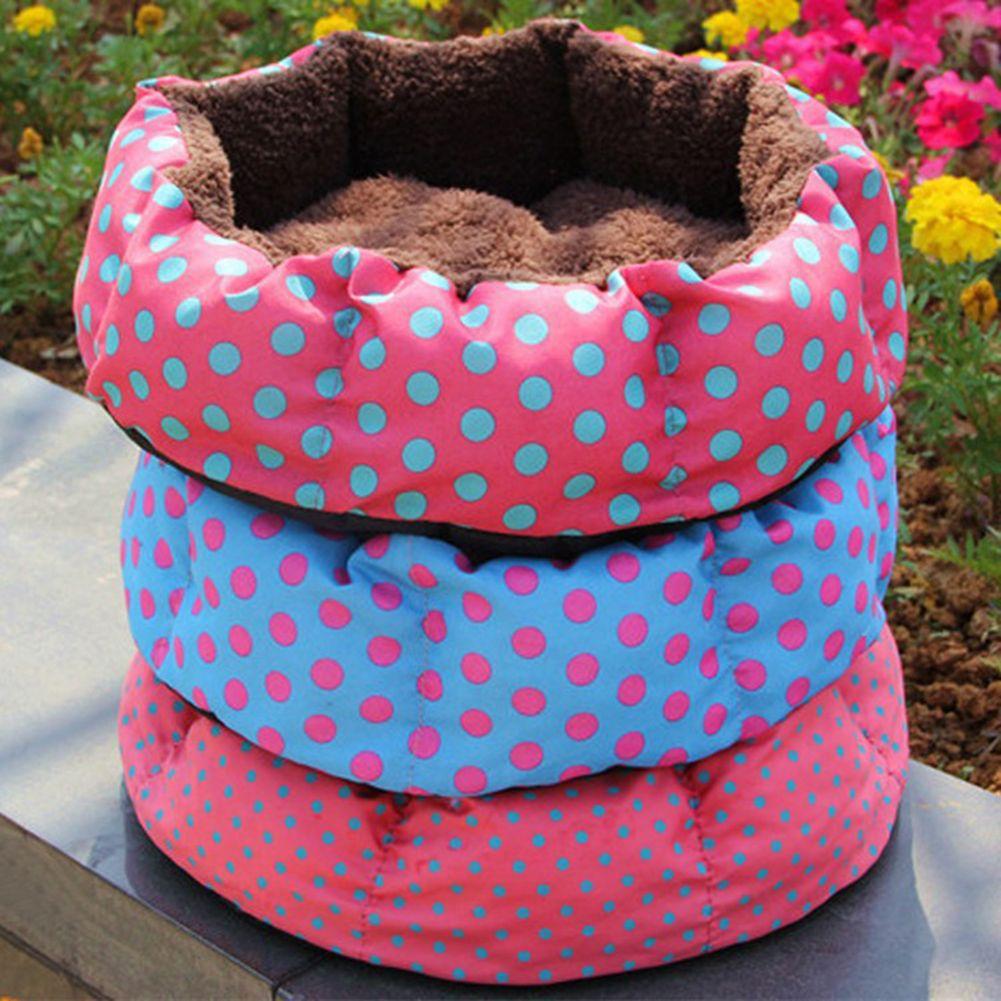 Tinghao зима щенок Кошкин дом мягкий толстый теплый флис кровать Щенок Pet Корзина гнездо Коврики