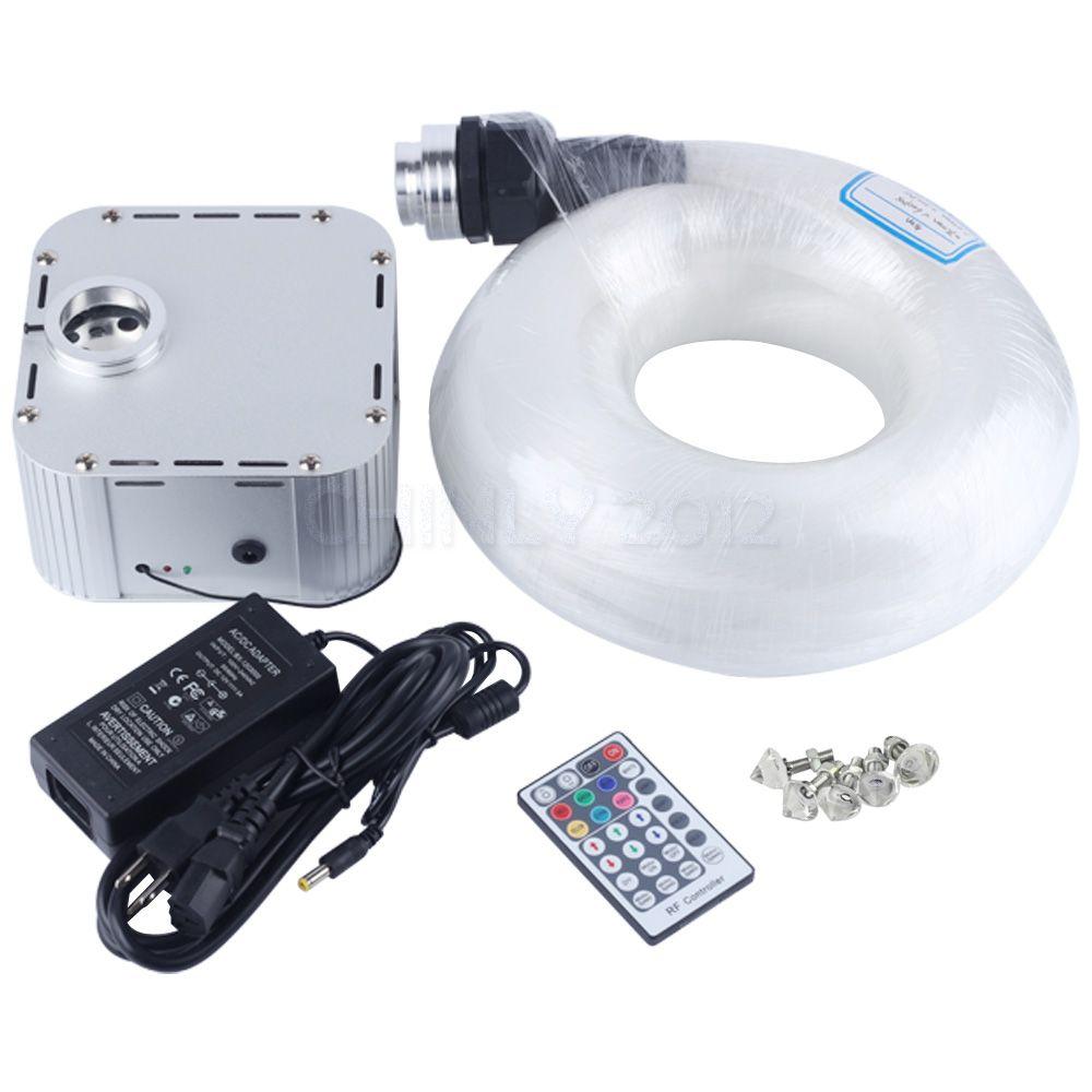 32 W RGB 4-speed Twinkle remote LED Lichtwellen sterne decke kit licht 835 stränge 5 m (0,75mm + 1,0mm + 1,5mm) + kristall