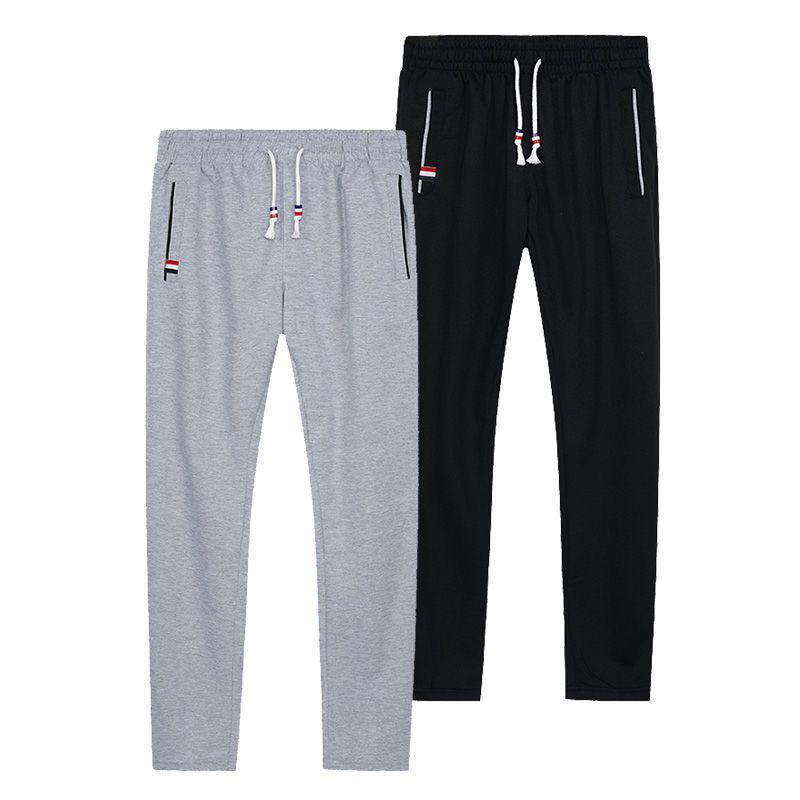 Décontracté hommes pantalons mince respirer confort coton Sport pantalon taille élastique grande taille lâche pantalons de survêtement