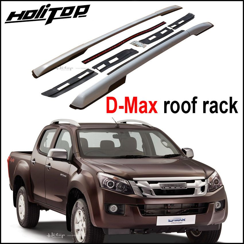 New arrival for Isuzu D-Max 2011-2018 roof rack roof rail cross roof bar, oxidized aluminum, installed by screws, very stable