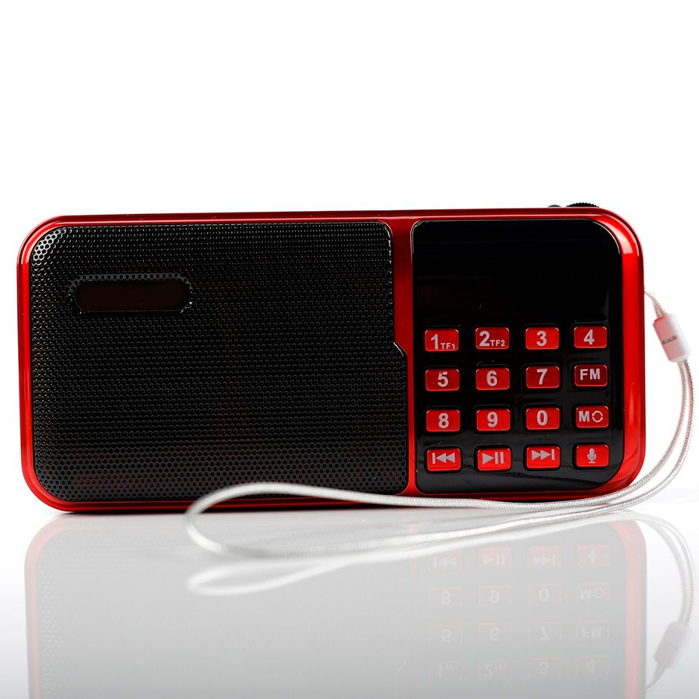 c-818 Portable Mini FM Radio Speaker Music Player TF Card USB For PC iPod Phone with LED Display outdoor Dancing mp3 HiFi