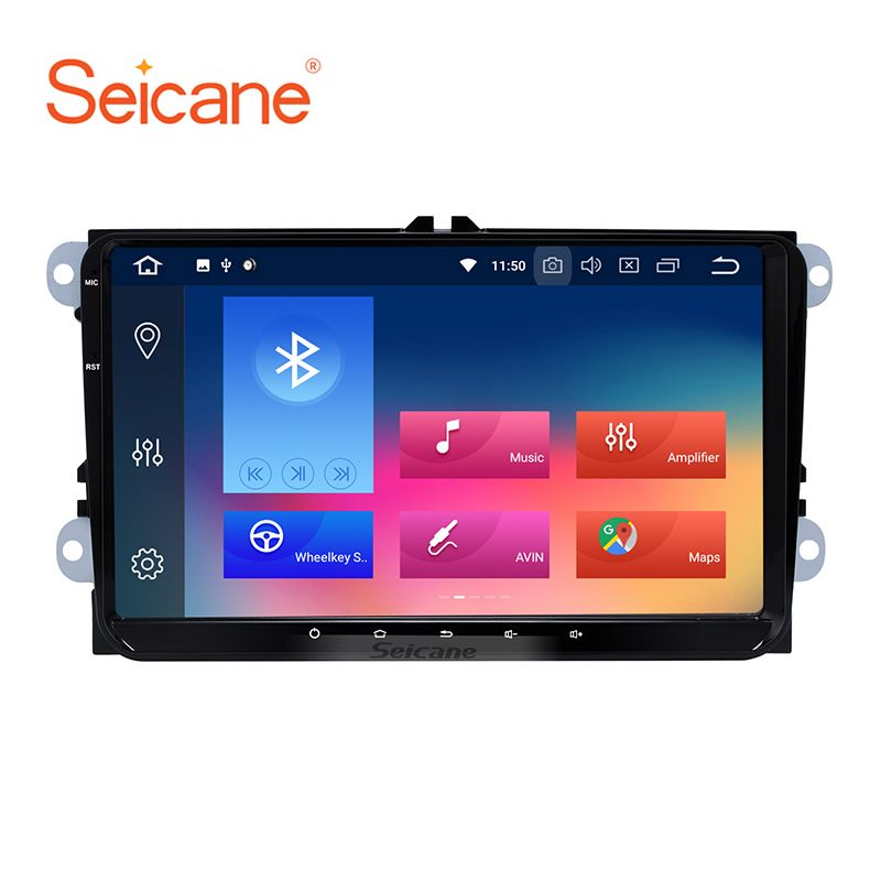 Seicane Android 8.0 Radio Car Navigation for 2008-2013 VW Passat Tiguan Polo Scirocco with 4G WiFi Mirror Link OBD2 Bluetooth