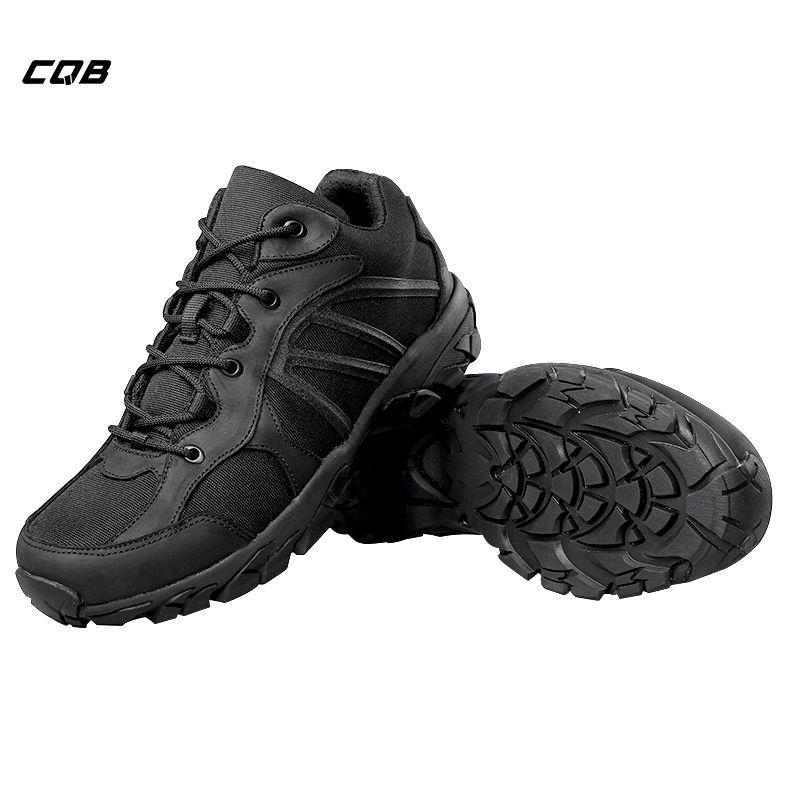 Baskets militaires tactiques CQB Sports de plein air pour Camping chaussures pour hommes pour l'escalade randonnée antidérapant résistant à l'usure