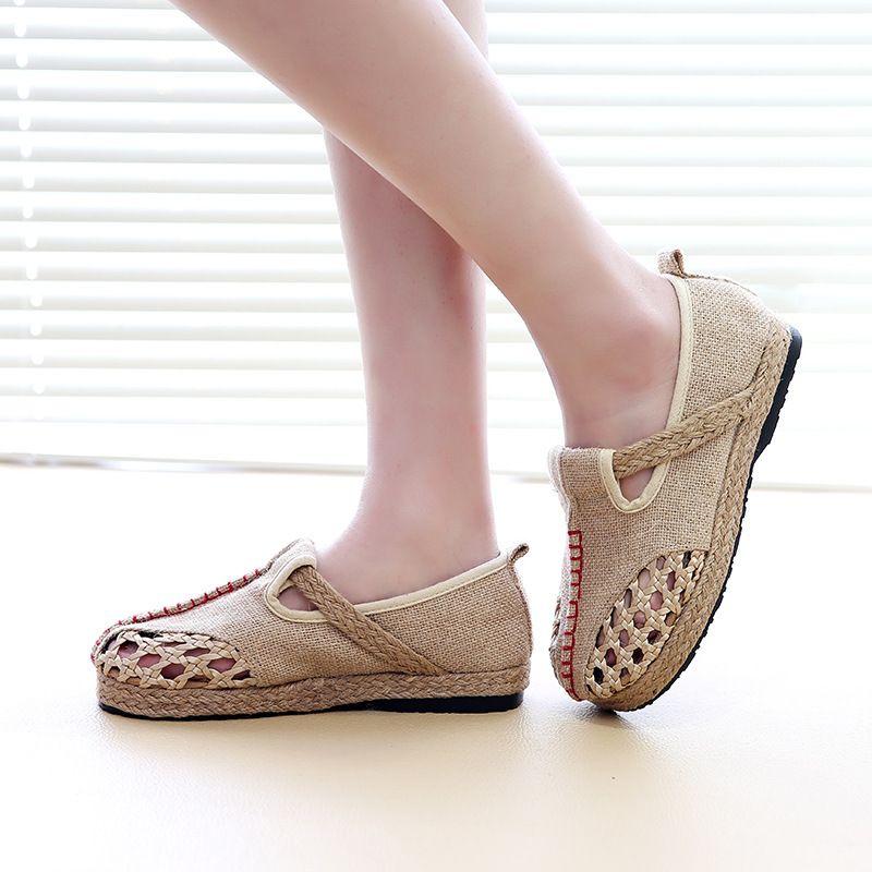 4171 p folk style d'été collège vent femelle chaussures simples gros
