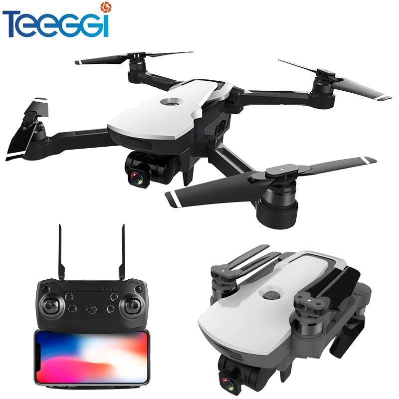 Teeggi CG006 Drone with Camera 1080P Wide-angle 5G Wifi FPV GPS Positioning Follow Me Altitude Hold RC Quadcopter Dron RTF Kids