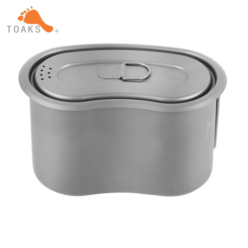 TOAKS Titanium Military Lunch Box Titanium Canteen Cup with Lid Backpacking Titanium Military Pot  950ml GC-950