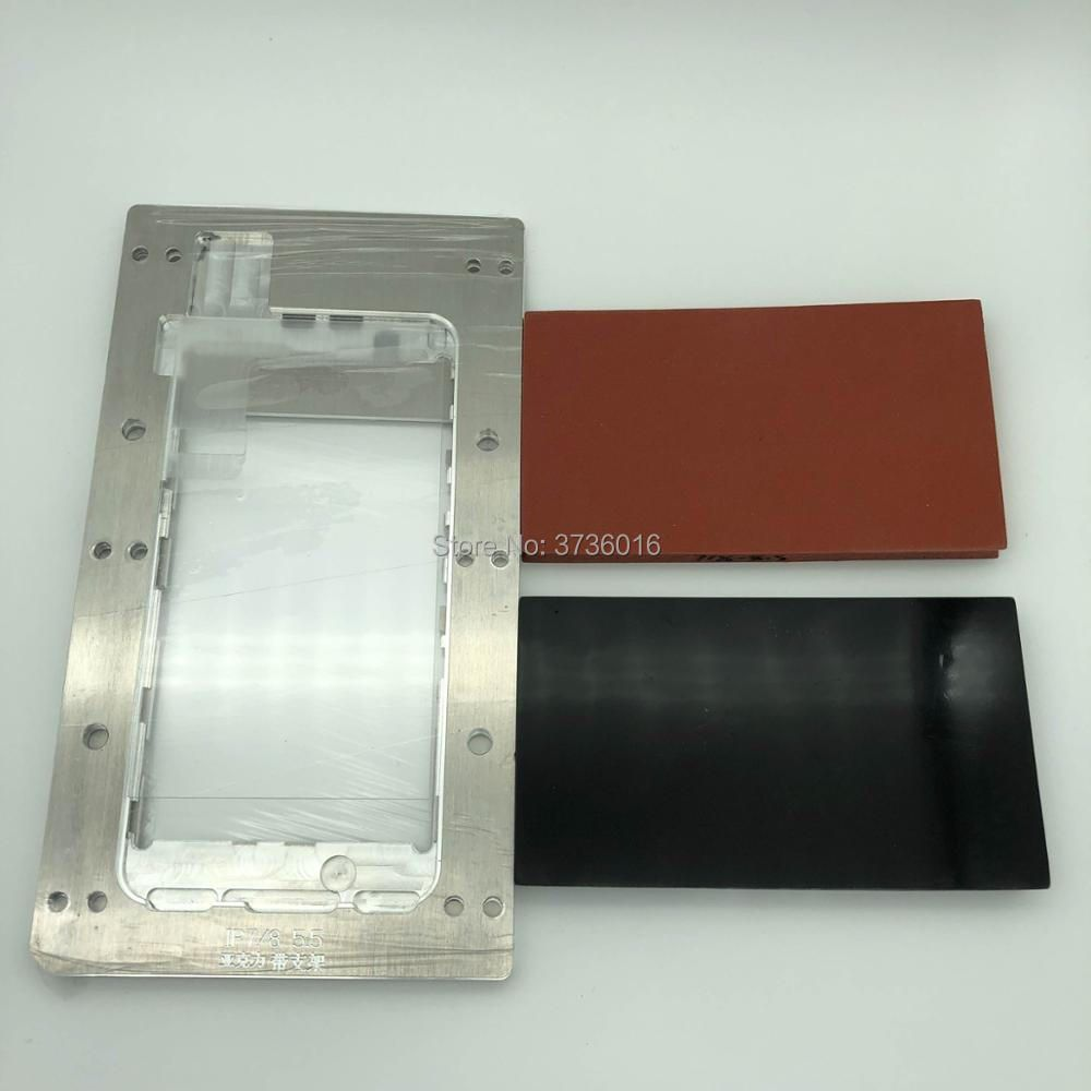 YMJ laminieren form für iphone 7/8 plus oca polarisator film lcd Perfekt fit vakuum laminieren mit Eine Form Zwei Gummi block