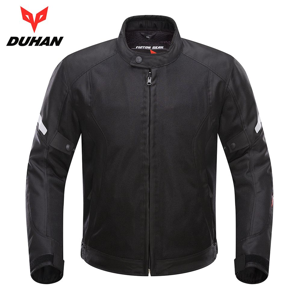 DUHAN Spring Summer Motorcycle Jacket Men Breathable Mesh Jacket Motorcycle Clothing Moto Jacket Armor Protective Gear Protector