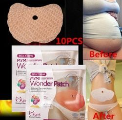 30 Days 10Pc Mymi Wonder Patch Quick Slimming Patch Weight Loss Belly Slim Patch Abdomen Fat burning Navel Stick Face Lift Tool
