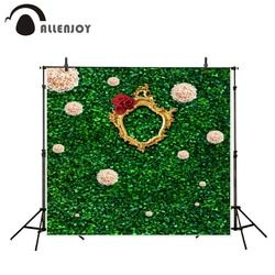 Allenjoy photo background Leaves wall flower photo frame custom background birthday photo booth photo backdrops photography