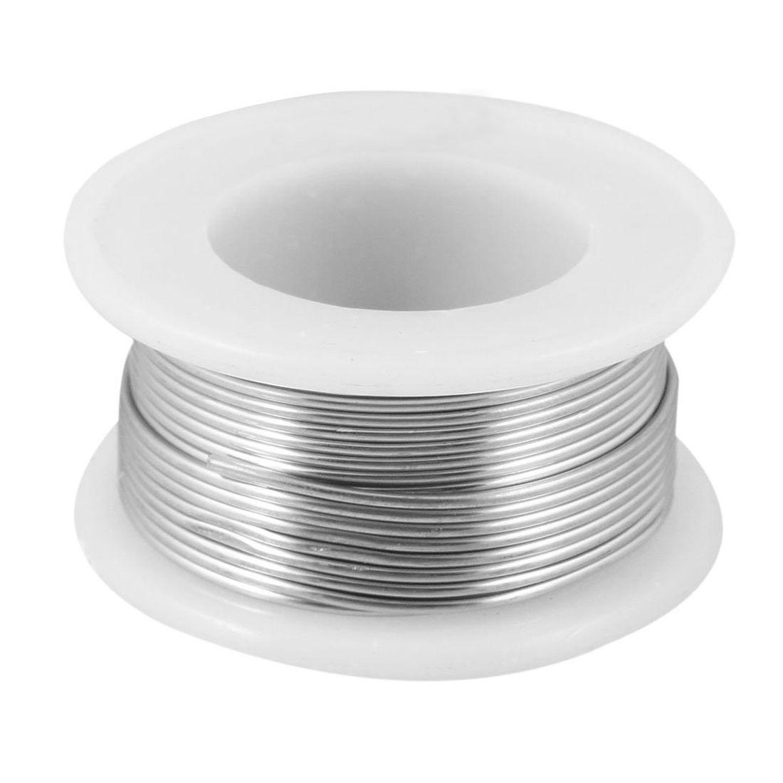 IMC Hot 1.2% Flux 1mm Diameter Tin Lead Soldering Rosin Core Wire Silver Tone