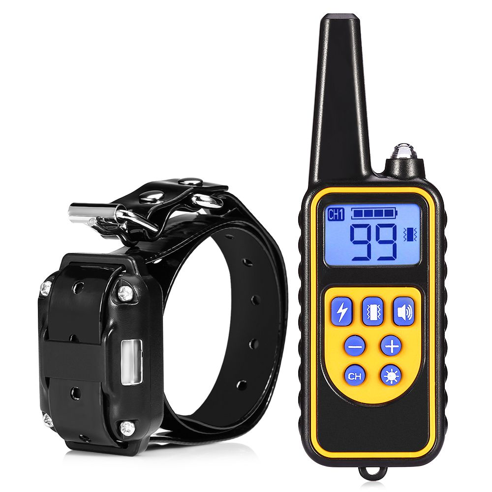 2018 New Dog Collar Waterproof Rechargeable Electric Dog Training Collar With Remote Controller Electric Pet Dog Training Collar