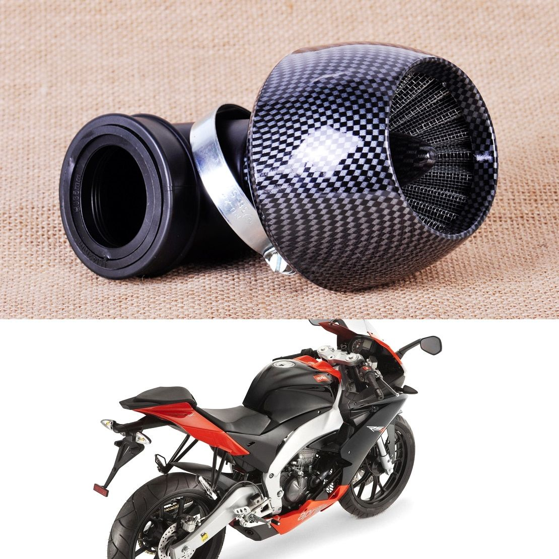 CITALL 35/42/48mm Air Filter fit for 150cc & 250cc Scooter Moped Dirt Bikes ATV Quad Go kart Pit Bike