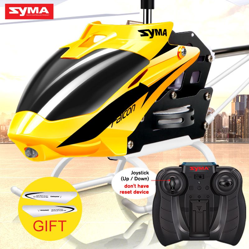 SYMA W25 RC Helicopter 2CH Radio Helicopter Dron Remote Control Mini Drone With Flashing Light Shatterproof Indoor Toy For Kids